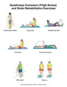 STRETCHES FOR QUAD STRAIN 1 - Muscle Pull | Muscle Pull