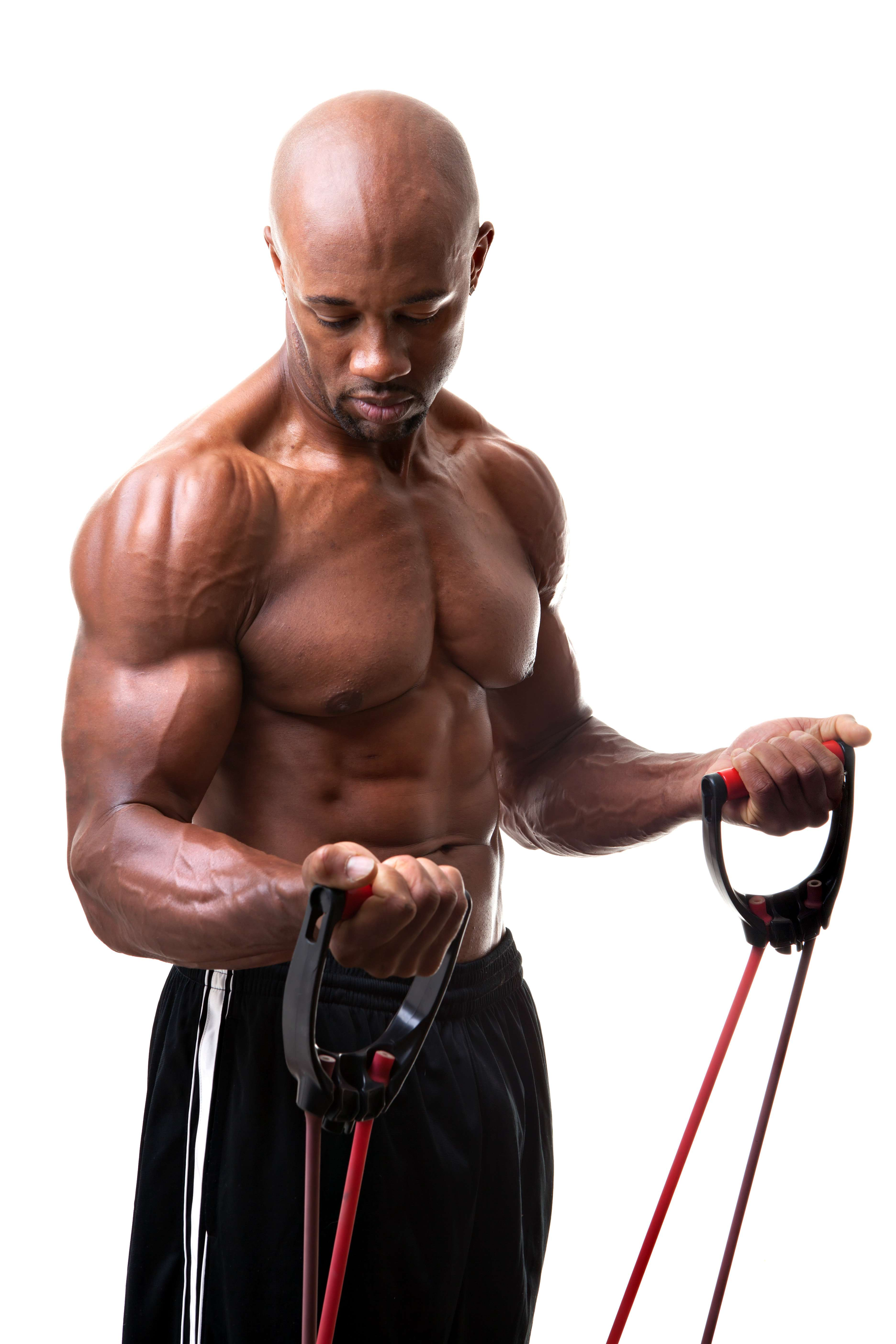Resistance Band Training Triceps